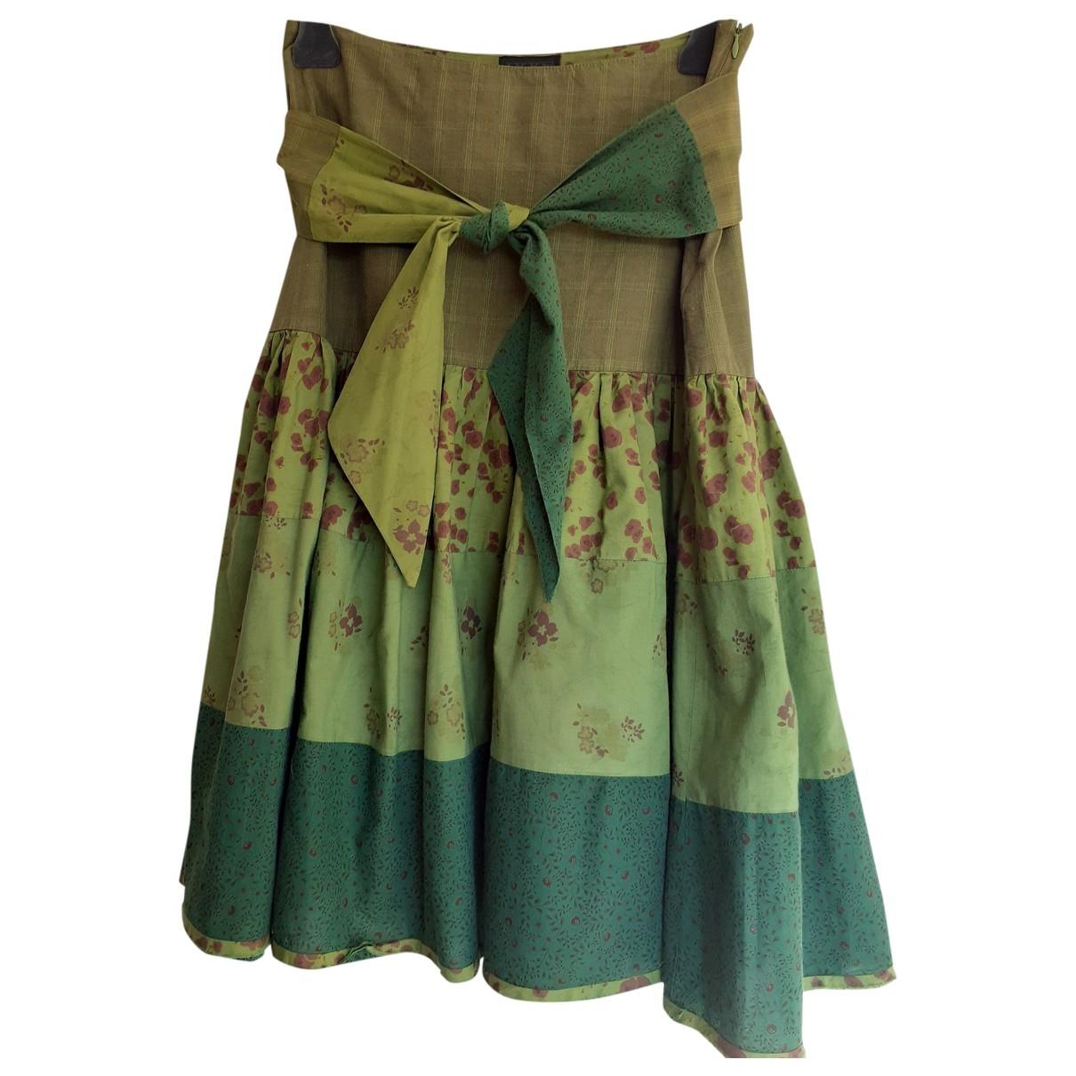 Ikks - Jupe   pour femme en coton - vert