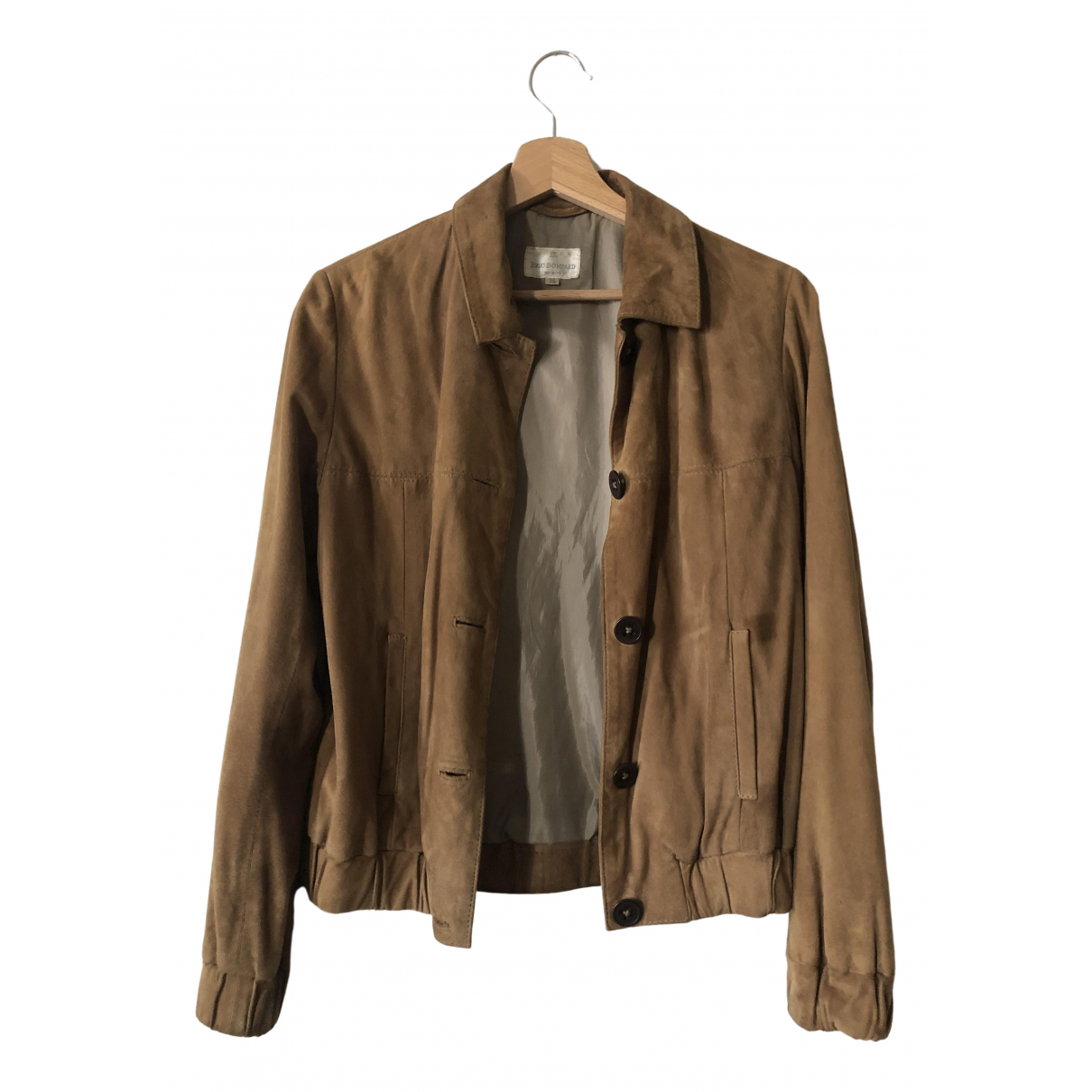 Eric Bompard \N Camel Leather Leather jacket for Women 36 FR