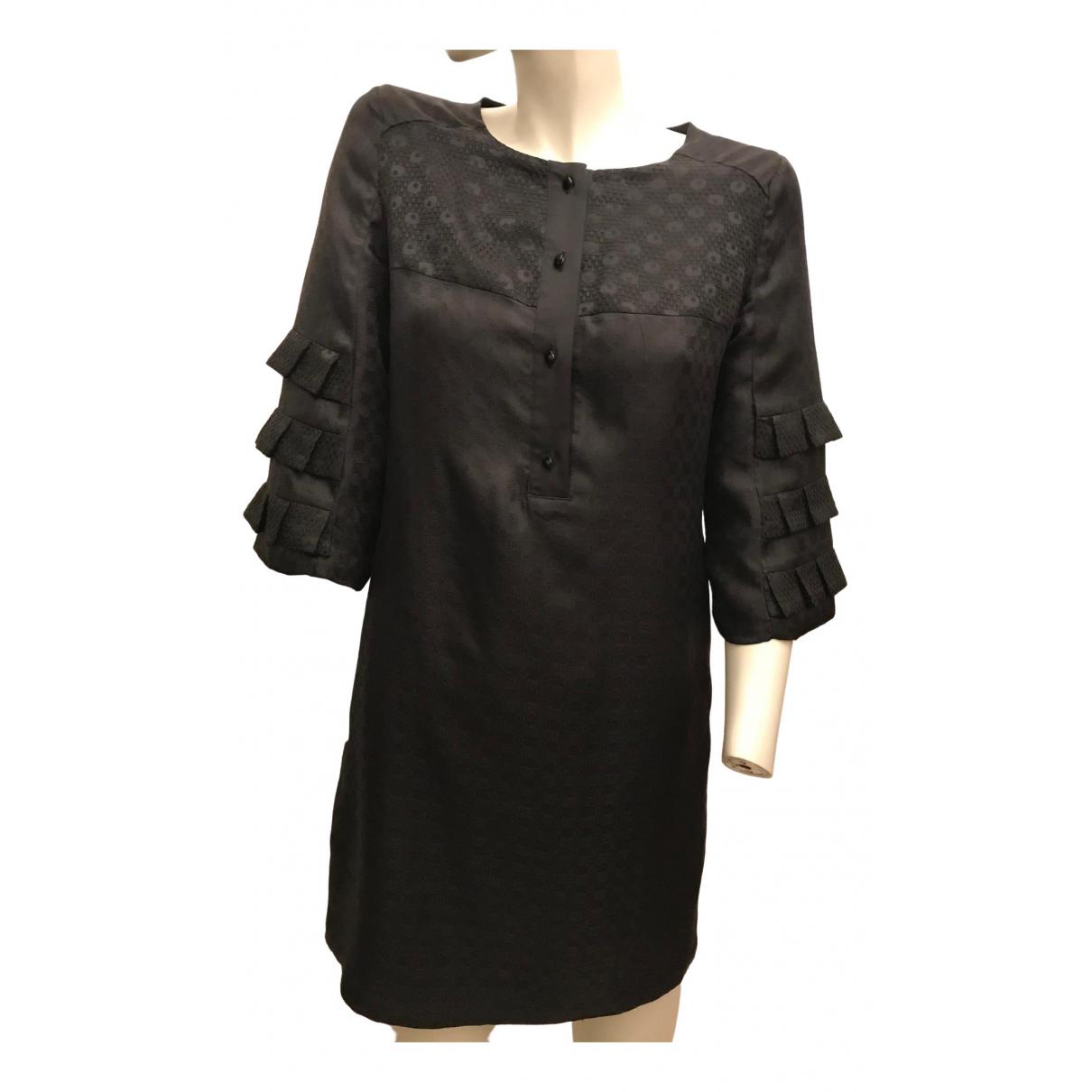 American Retro \N Black Silk dress for Women 38 FR