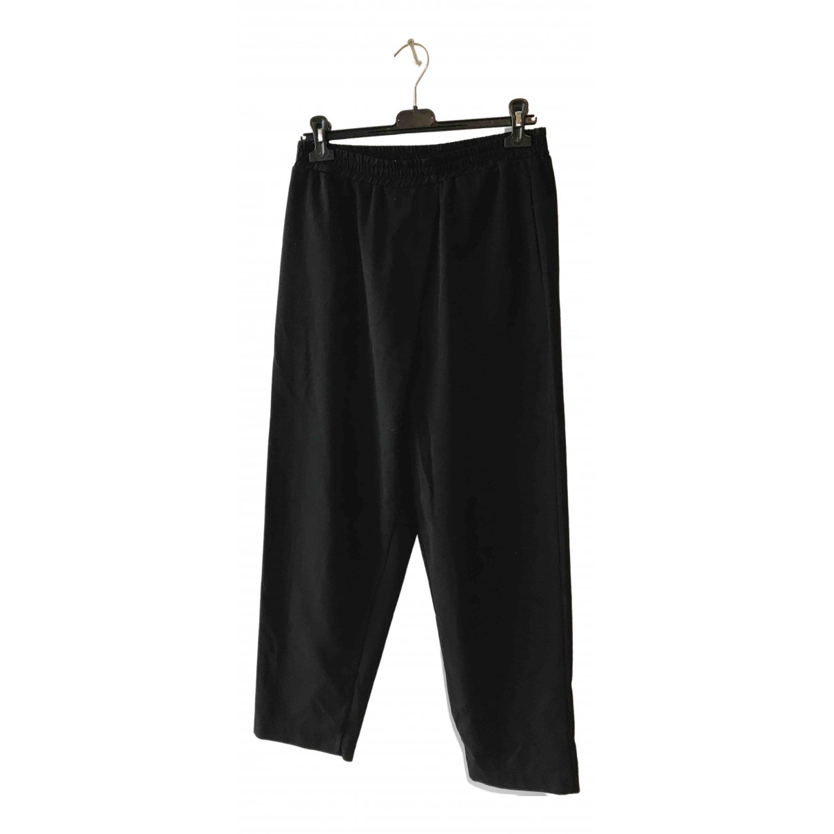 Non Signé / Unsigned \N Black Trousers for Women S International