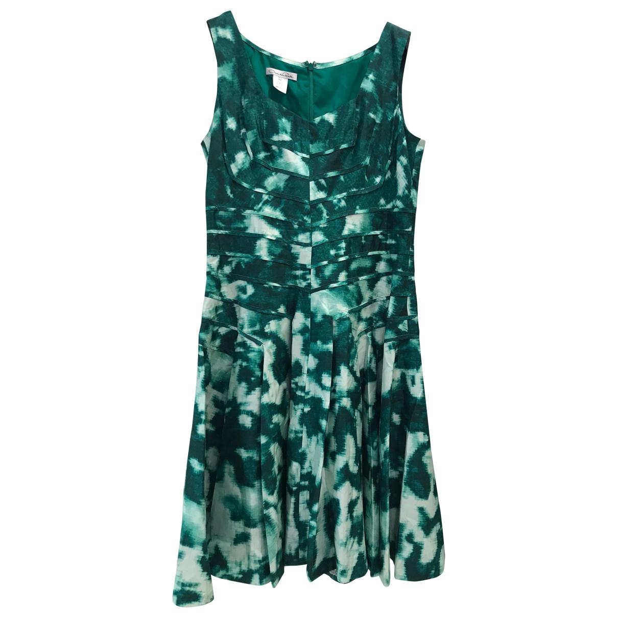 Oscar De La Renta \N Green Silk dress for Women 10 US