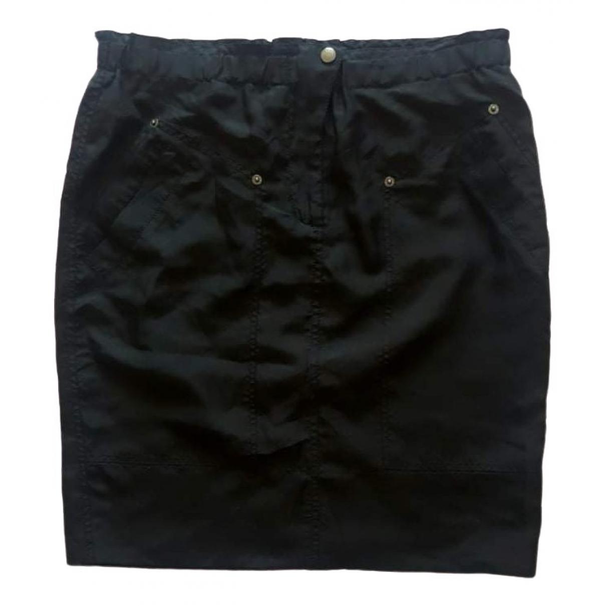 Dkny - Jupe   pour femme en soie - noir