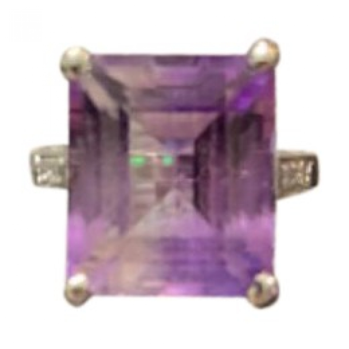 Non Signe / Unsigned Amethyste Ring in  Lila Weissgold