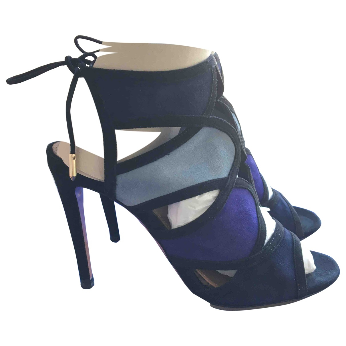 Aquazzura - Sandales   pour femme en suede - noir