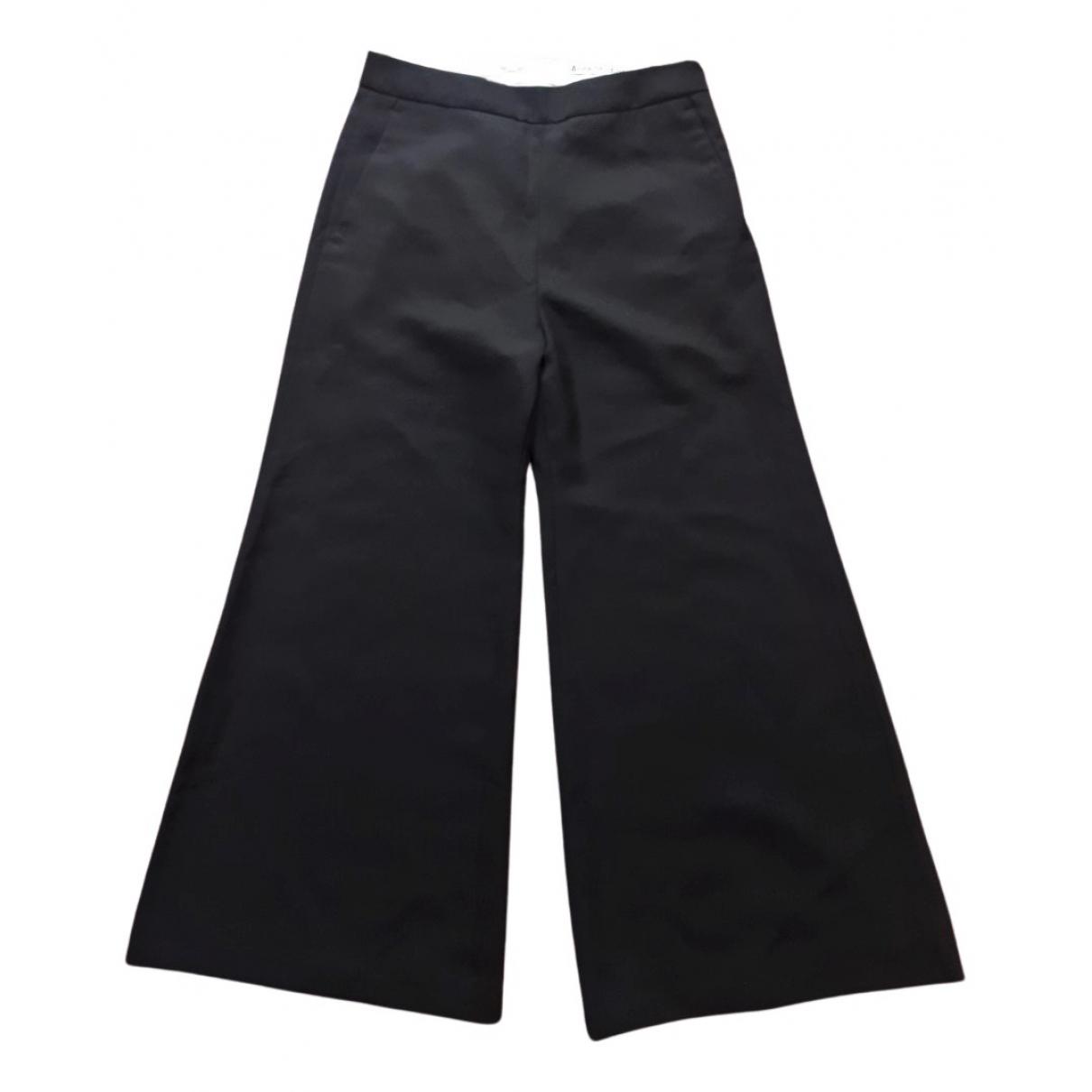 Acne Studios - Pantalon   pour femme en laine - noir