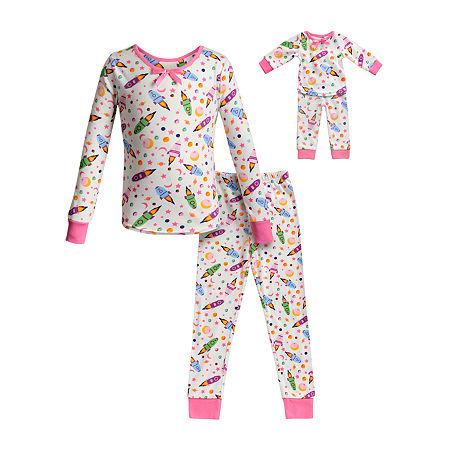 Dollie And Me Little & Big Girls 2-pc. Pant Pajama Set, 14 , Pink