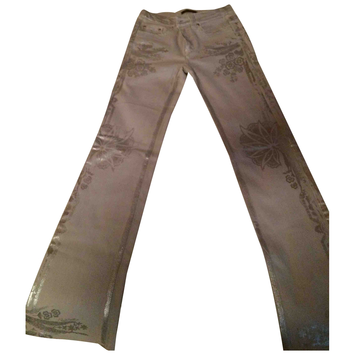 Roberto Cavalli \N Cotton Trousers for Women 38 IT