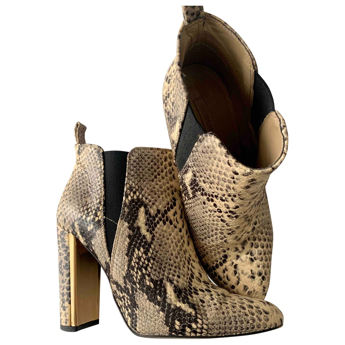 Bcbg Max Azria - Bottes   pour femme en cuir - beige