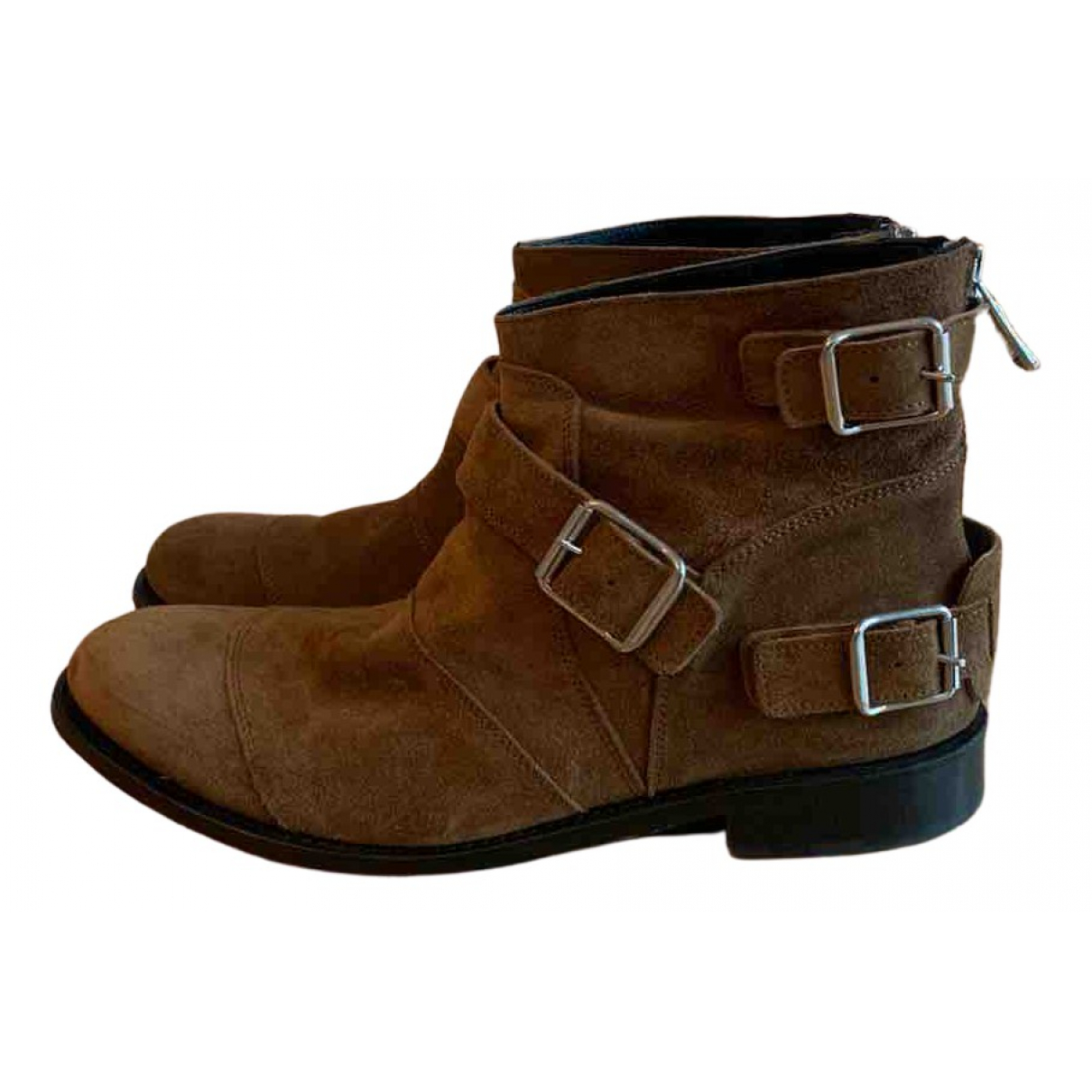 Balmain For H&m N Camel Suede Boots for Men 43 EU