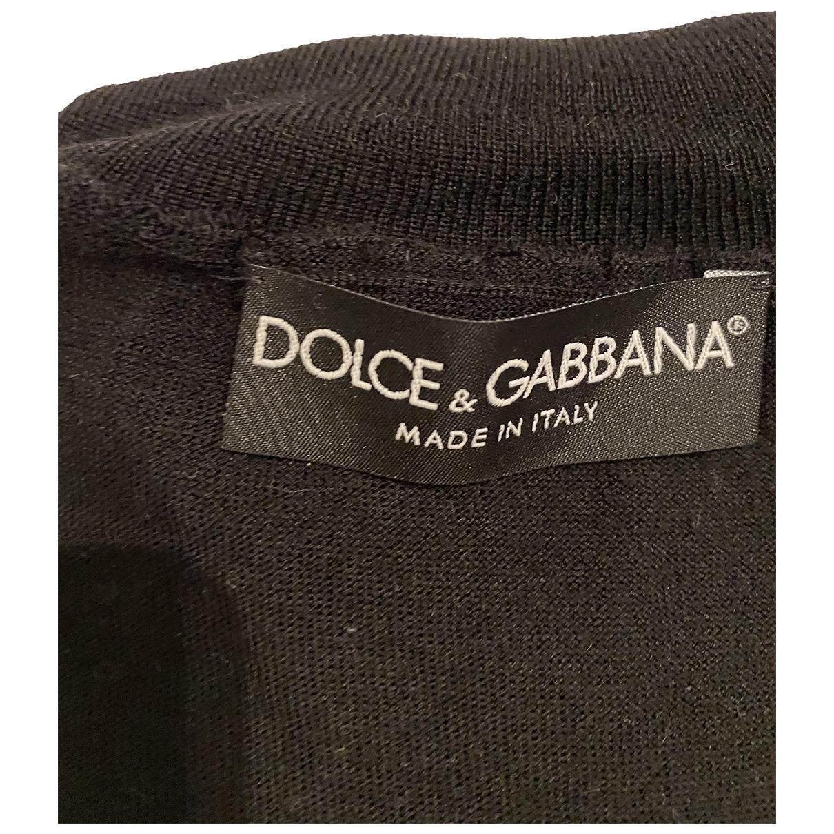 Dolce & Gabbana N Black Wool Knitwear for Women 38 IT