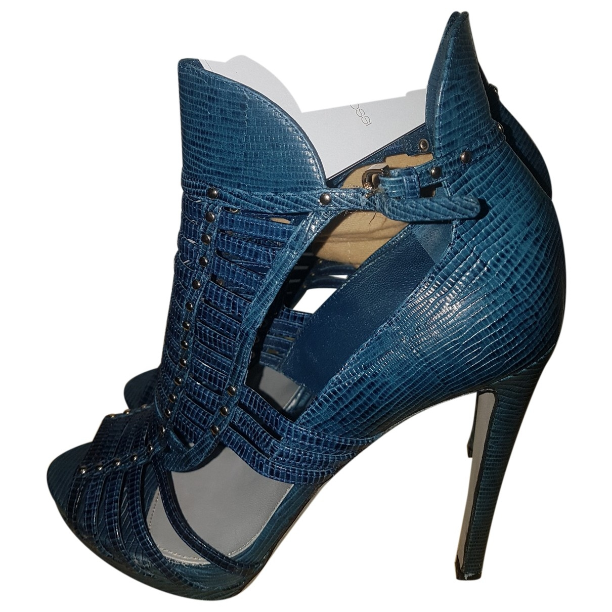Sergio Rossi \N Blue Leather Sandals for Women 38.5 IT
