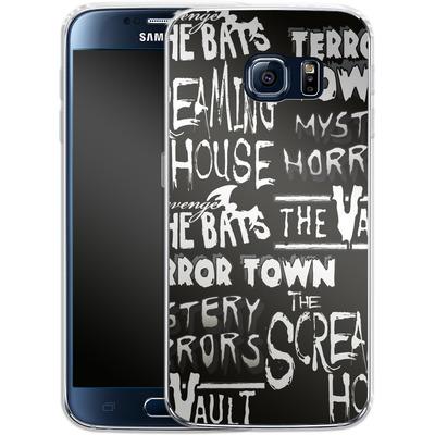 Samsung Galaxy S6 Silikon Handyhuelle - Terror Town Patterns von caseable Designs