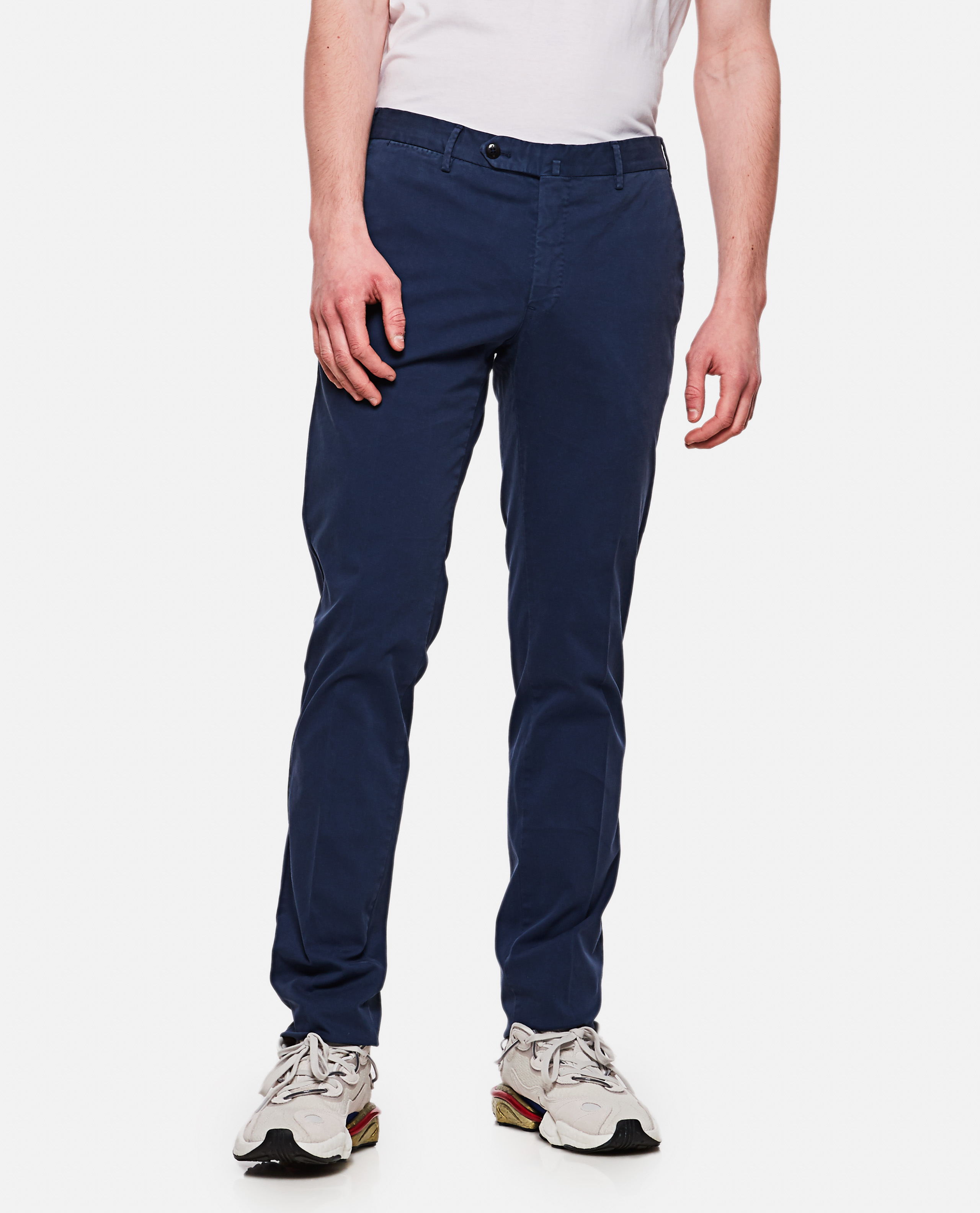 Long superslim fit trousers