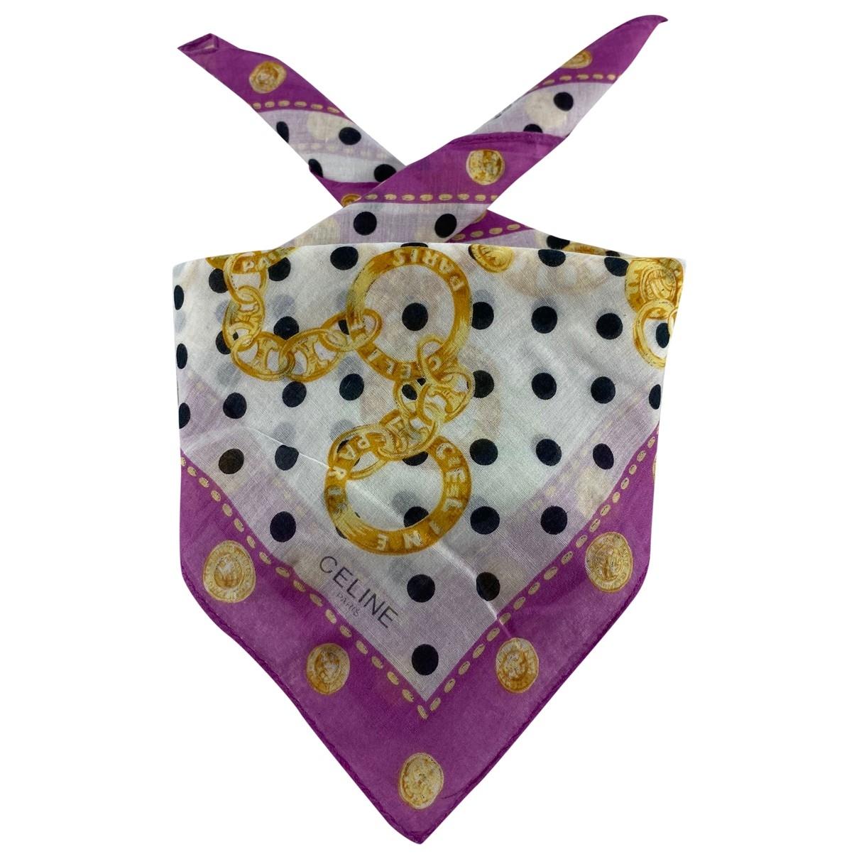 Celine \N Multicolour Cotton scarf for Women \N