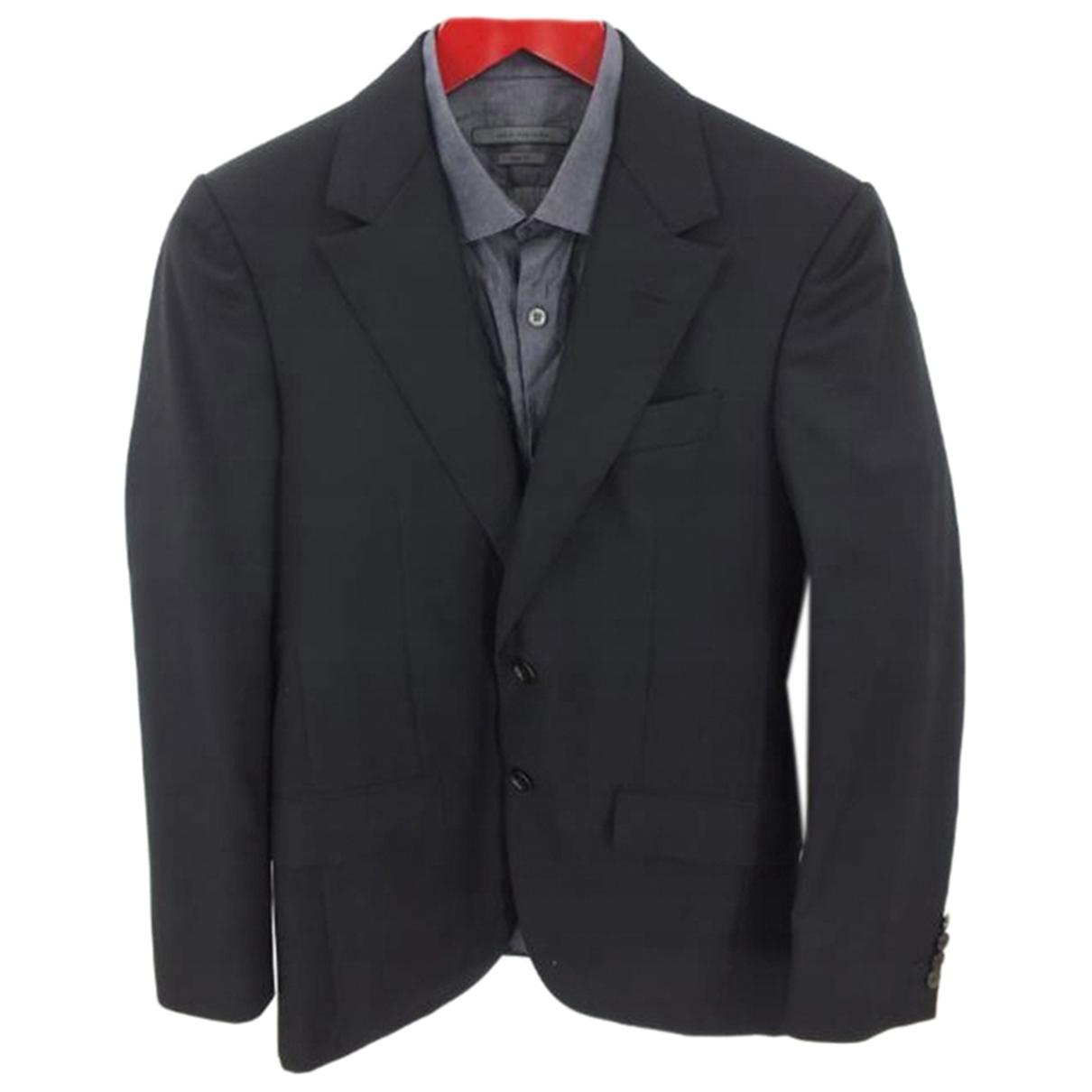 Lanvin - Vestes.Blousons   pour homme en laine - noir