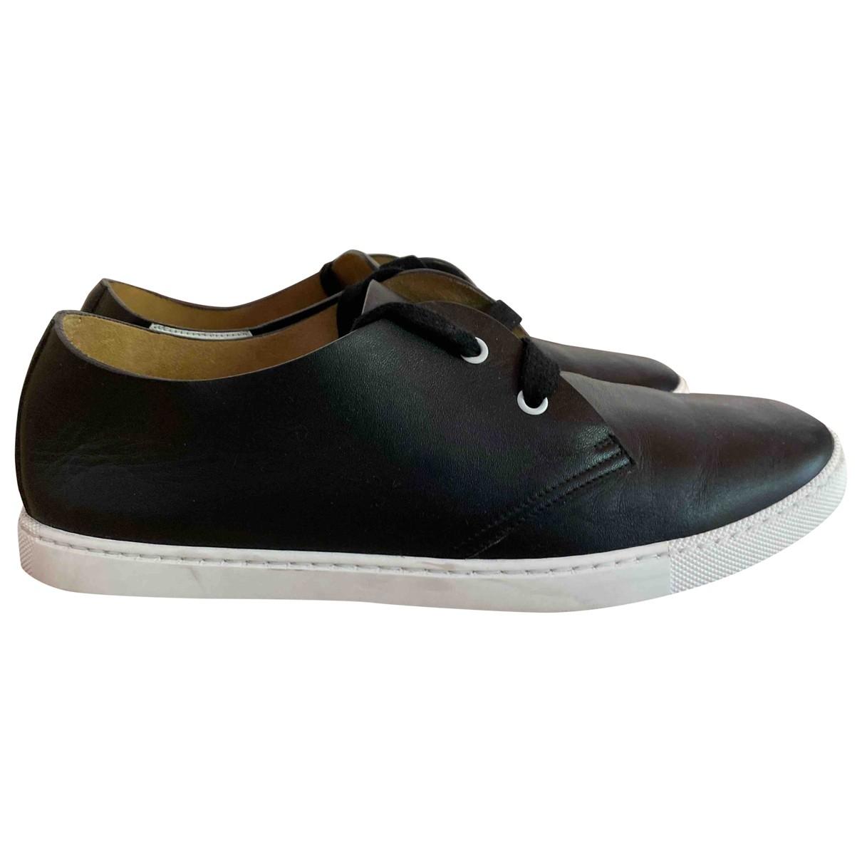 Hermès \N Black Leather Trainers for Men 42 EU