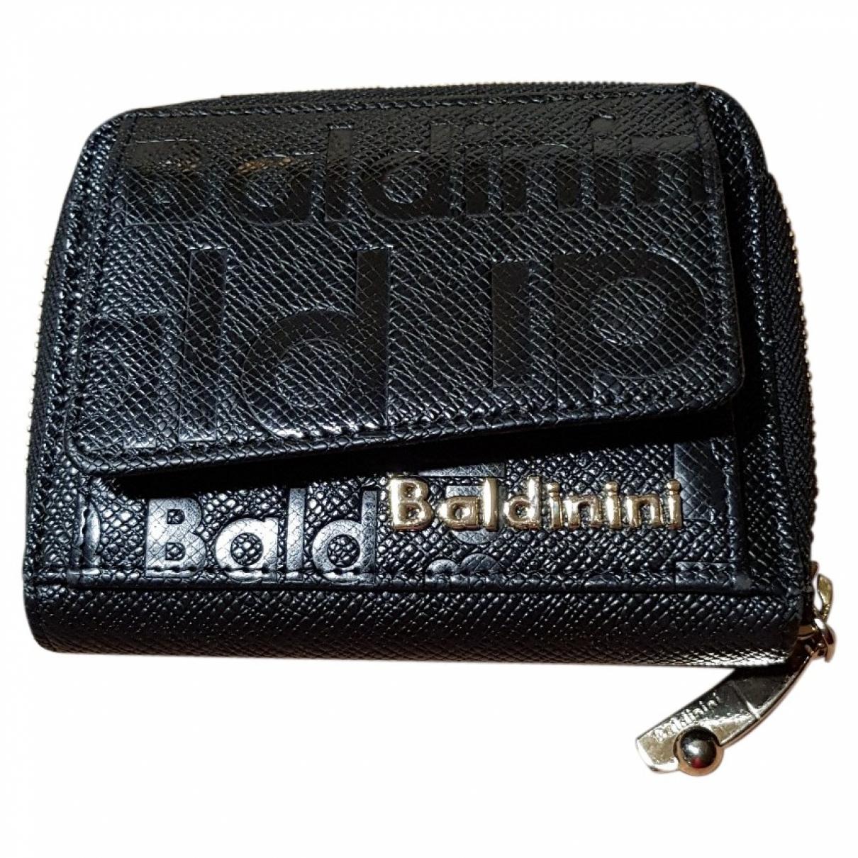 Baldinini - Portefeuille   pour femme en cuir - noir
