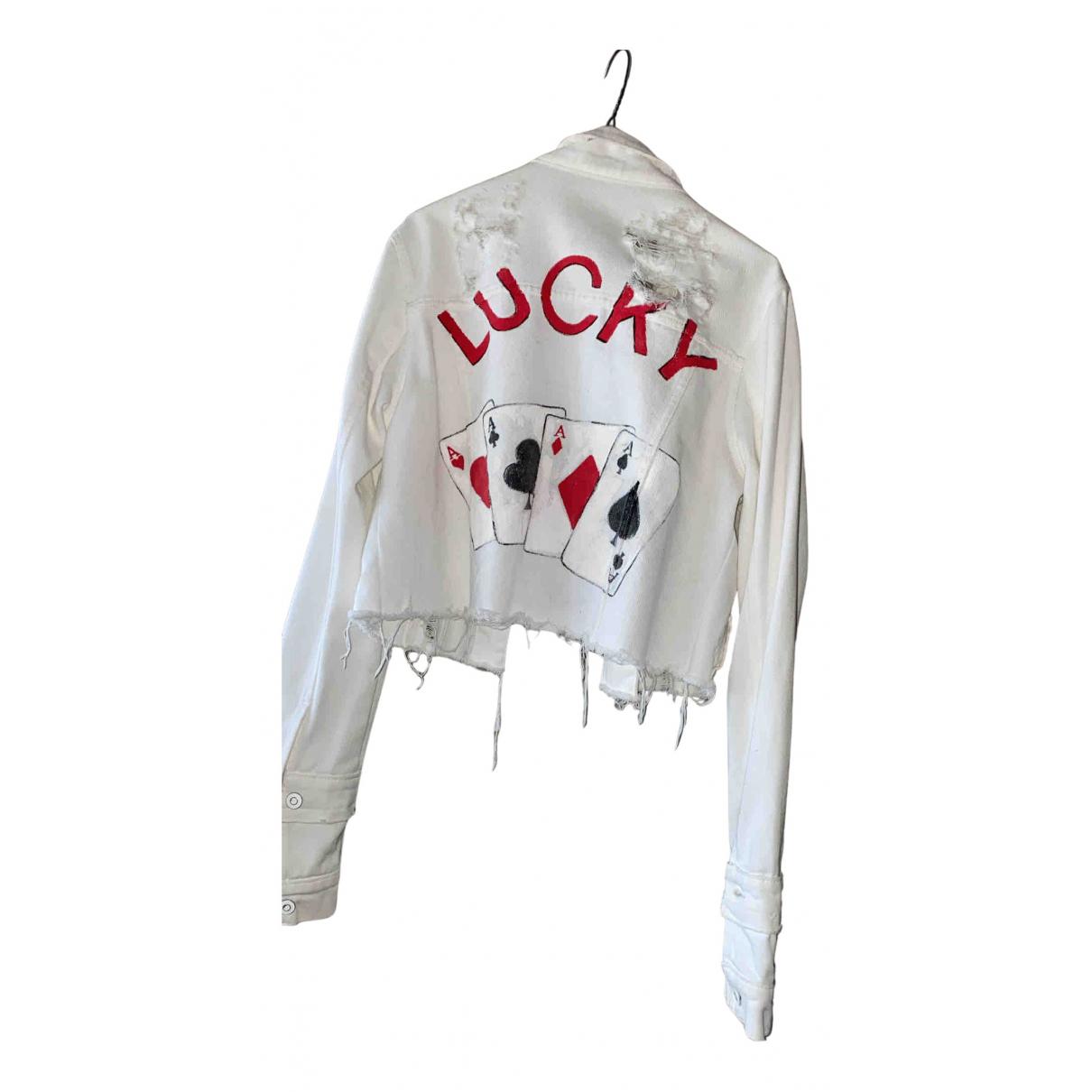 Non Signé / Unsigned N White Denim - Jeans jacket for Women S International