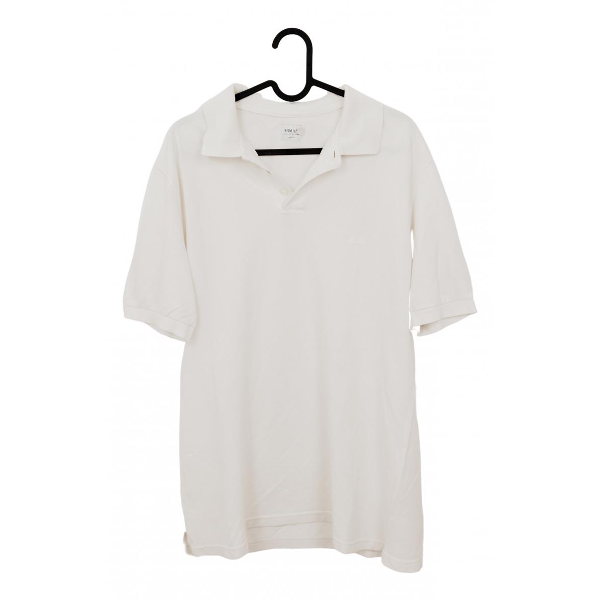 Armani Collezioni \N White Cotton Polo shirts for Men L International