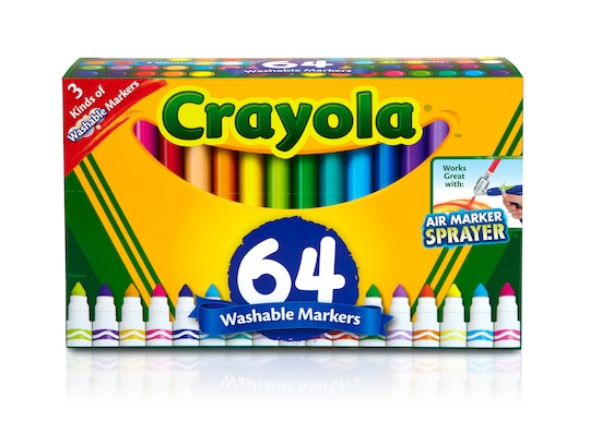 Crayola® Broad Line Washable Markers Variety Pack, 64Ct   Michaels®