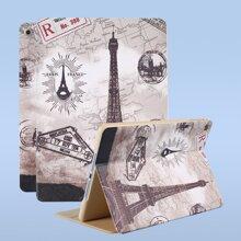 1pc Eiffel Tower Print iPad Case