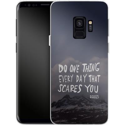 Samsung Galaxy S9 Silikon Handyhuelle - Scares You von Leah Flores
