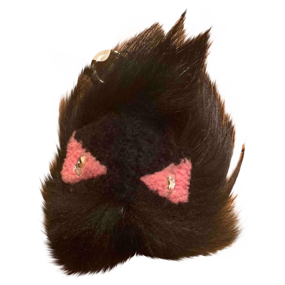 Fendi - Bijoux de sac Bag Bug pour femme en renard - noir