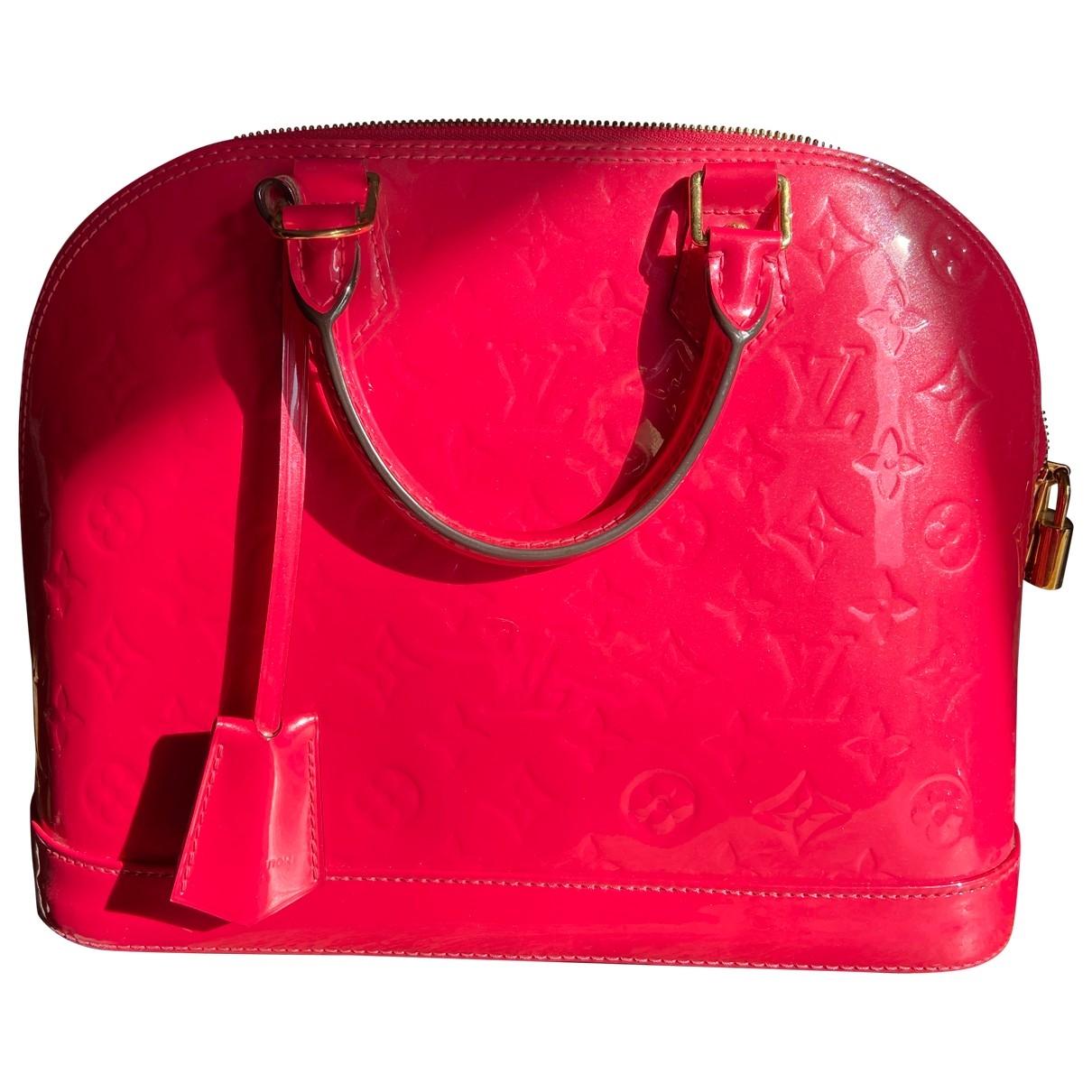 Louis Vuitton Alma Handtasche in  Rosa Lackleder