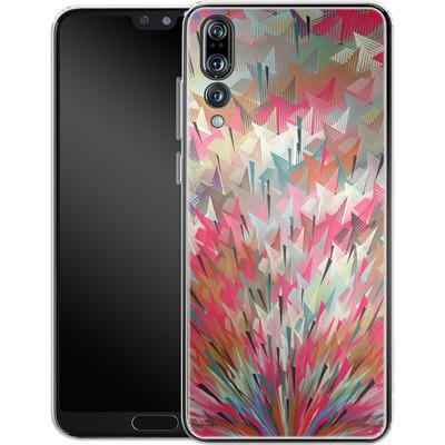 Huawei P20 Pro Silikon Handyhuelle - Black Pigment Explosion von Danny Ivan