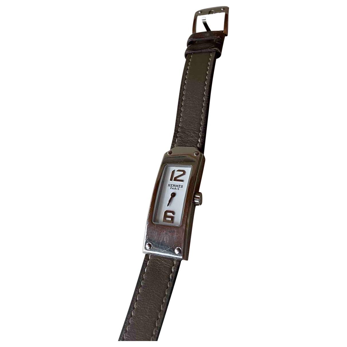 Hermes Kelly II Uhr in Stahl