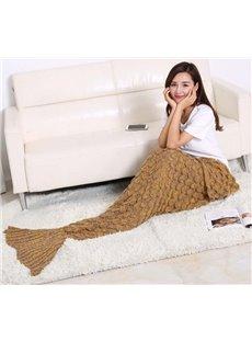 Super Soft Knitted Mermaid Tail Orlon Blanket