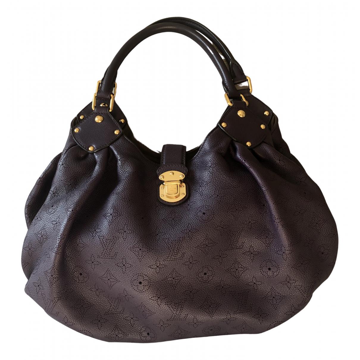 Louis Vuitton Mahina Purple Leather handbag for Women \N