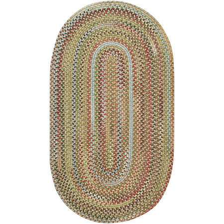 Capel American Traditions Braided Wool Oval Accent, Area and Runner Rugs, One Size , Yellow