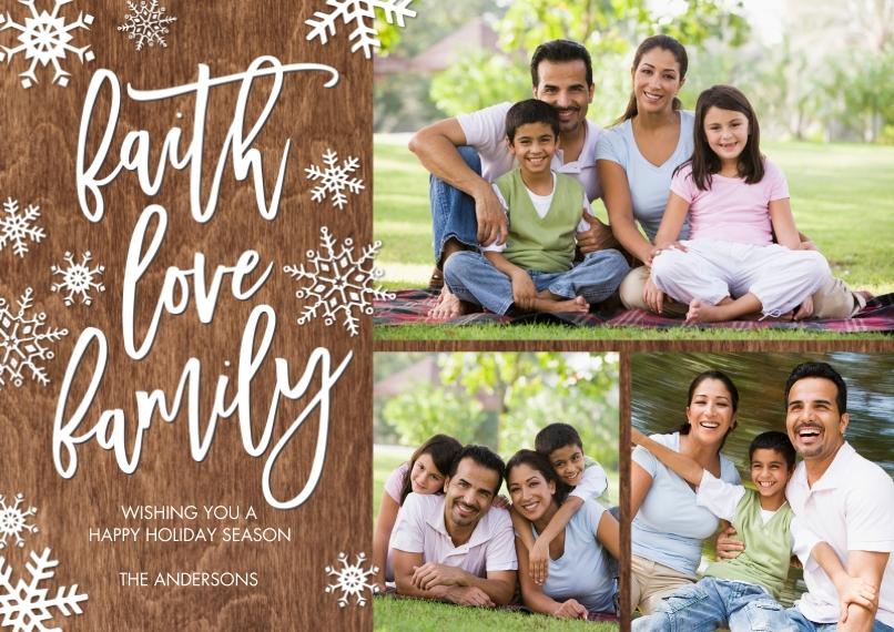 Christmas Photo Cards 5x7 Cards, Premium Cardstock 120lb, Card & Stationery -Christmas Faith Love Family by Tumbalina