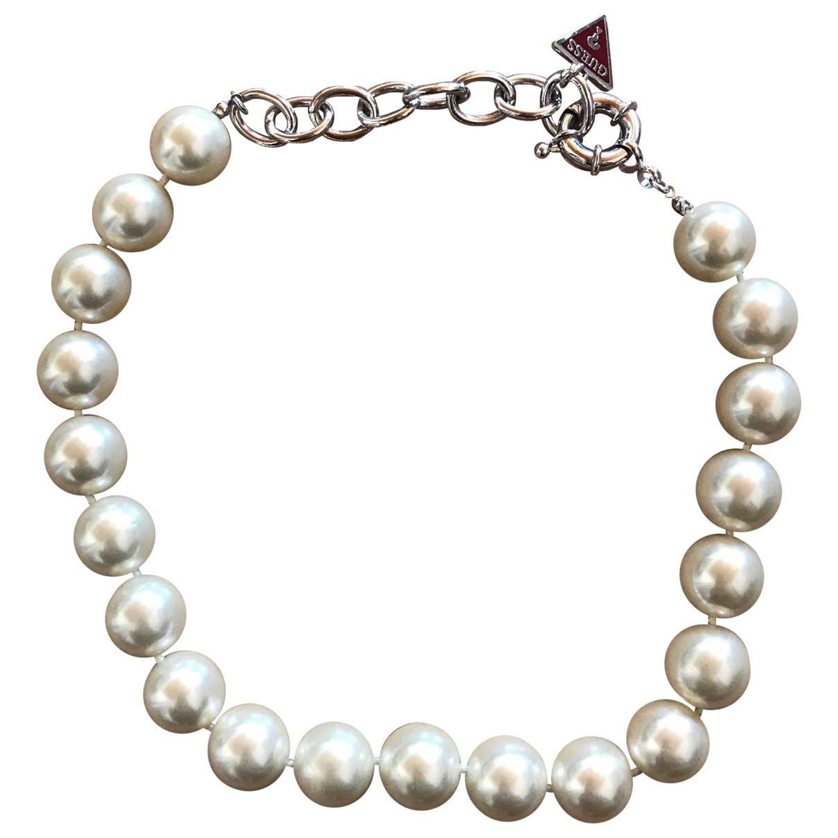Guess - Collier   pour femme en perles - blanc