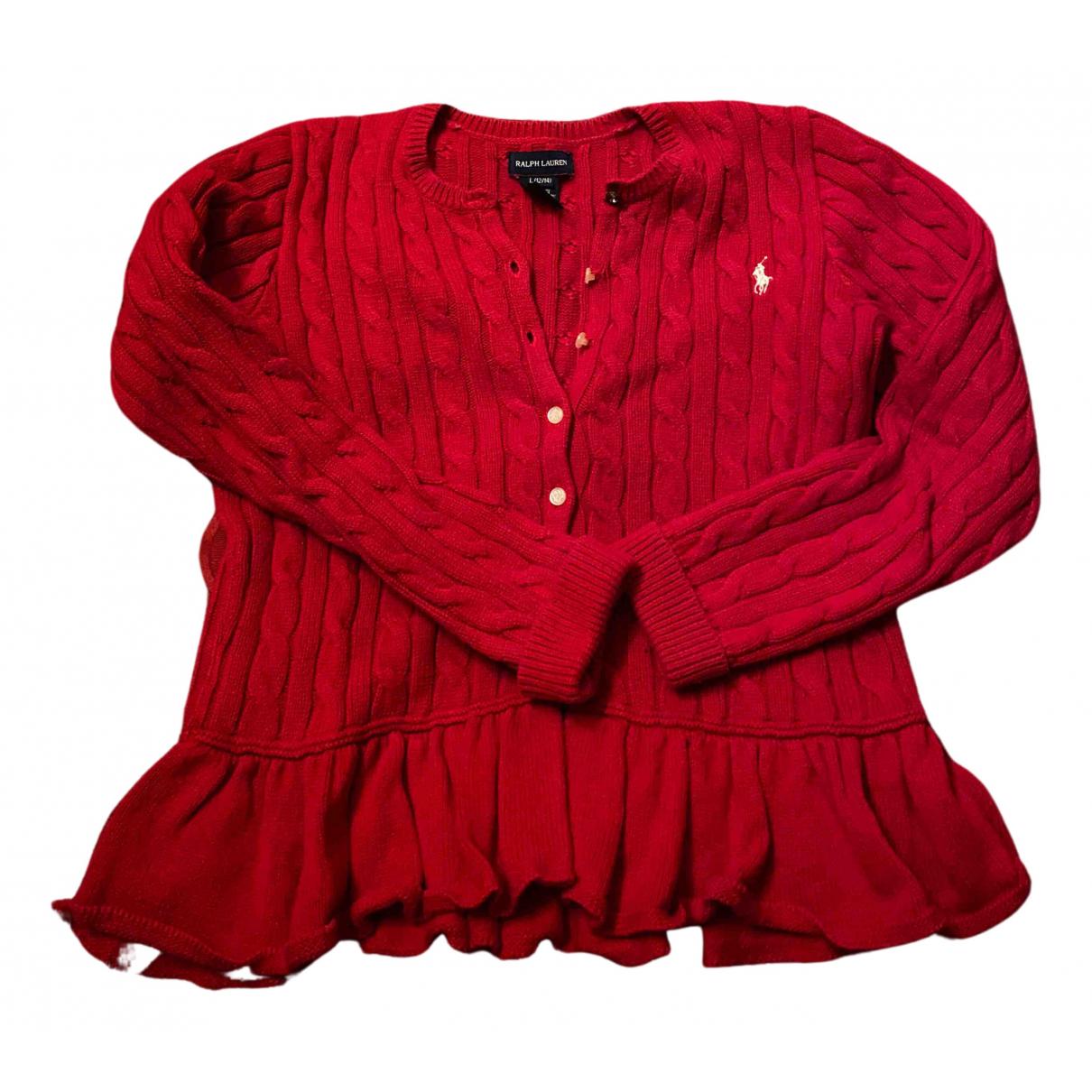 Ralph Lauren N Red Cotton Knitwear for Kids 18 years - L FR