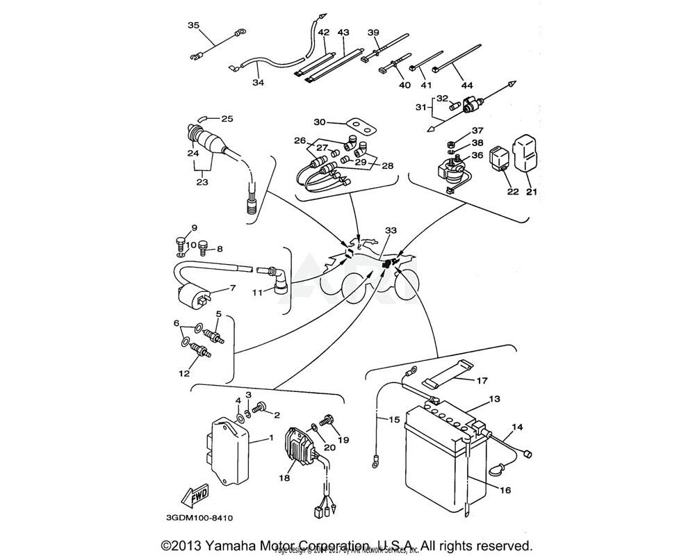 Yamaha OEM 4KB-81960-02-00 RECTIFIER & REGULATOR ASSY