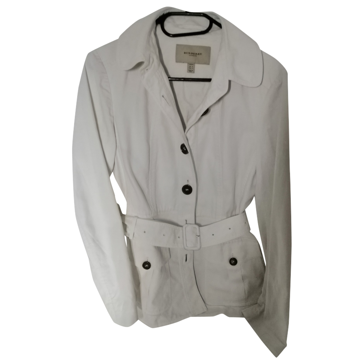 Burberry \N Trench in  Weiss Baumwolle