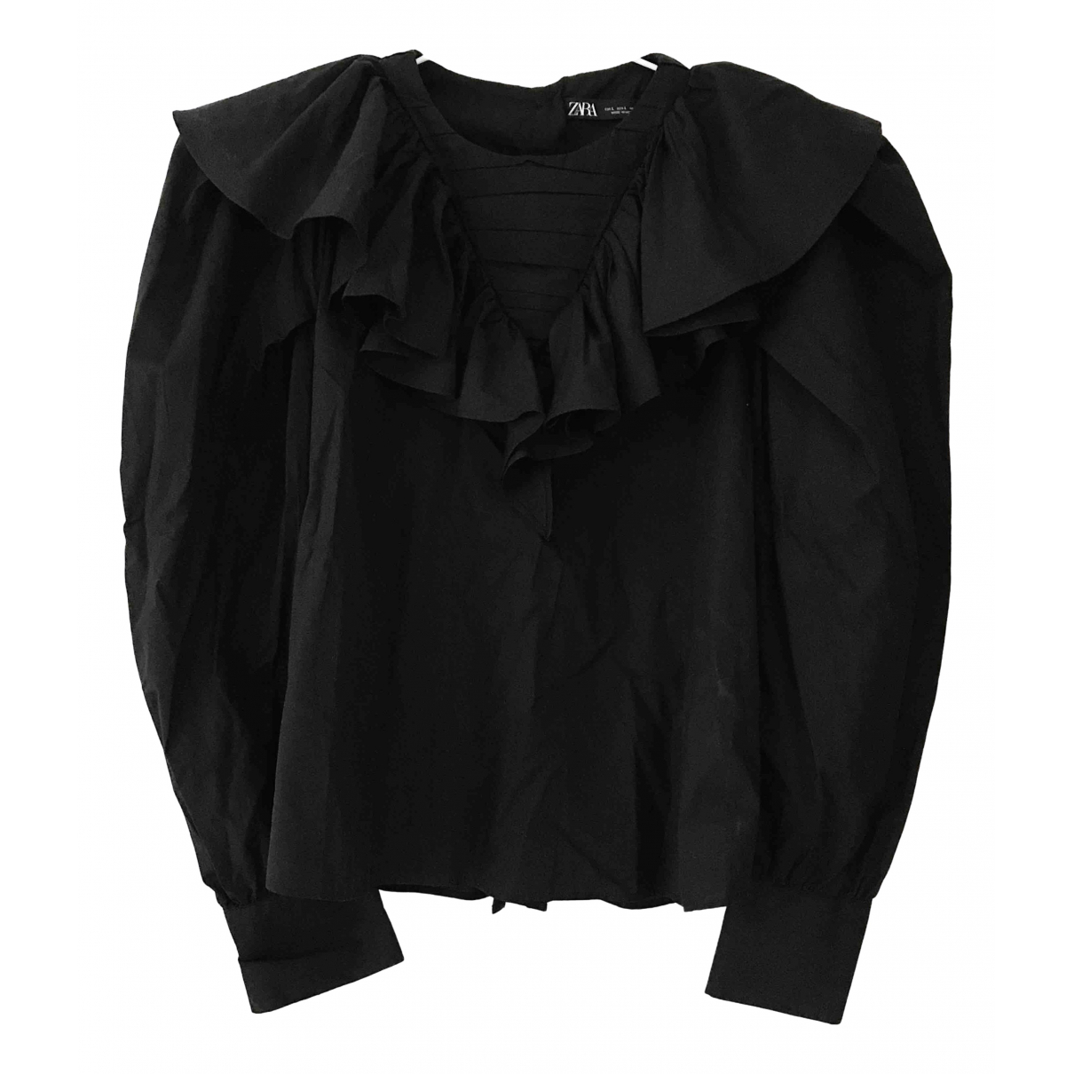 Zara \N Top in  Schwarz Baumwolle