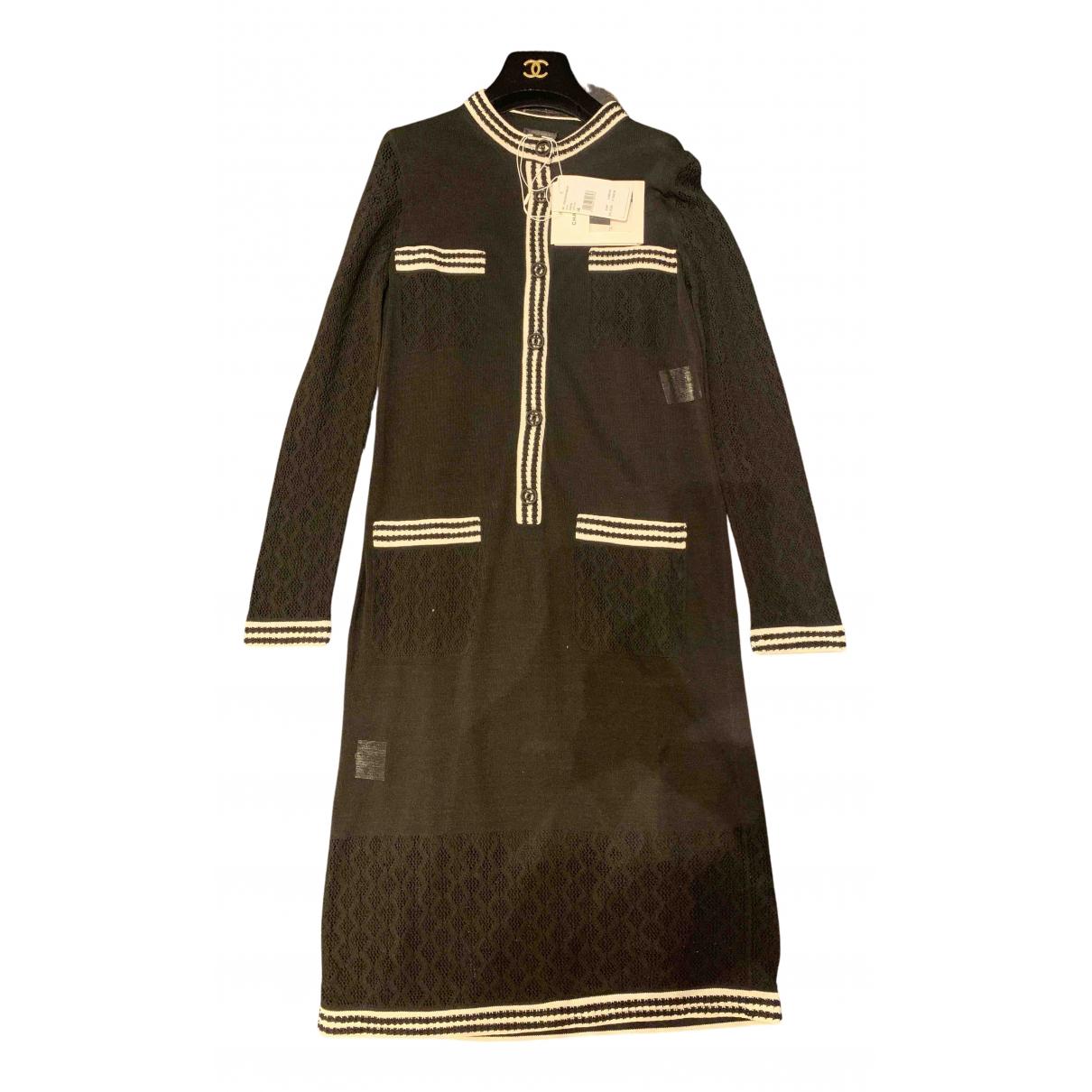 Chanel - Robe   pour femme en soie - noir