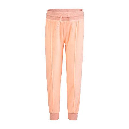 Converse Big Girls Mid Rise Slim Pull-On Pants, Large , Pink