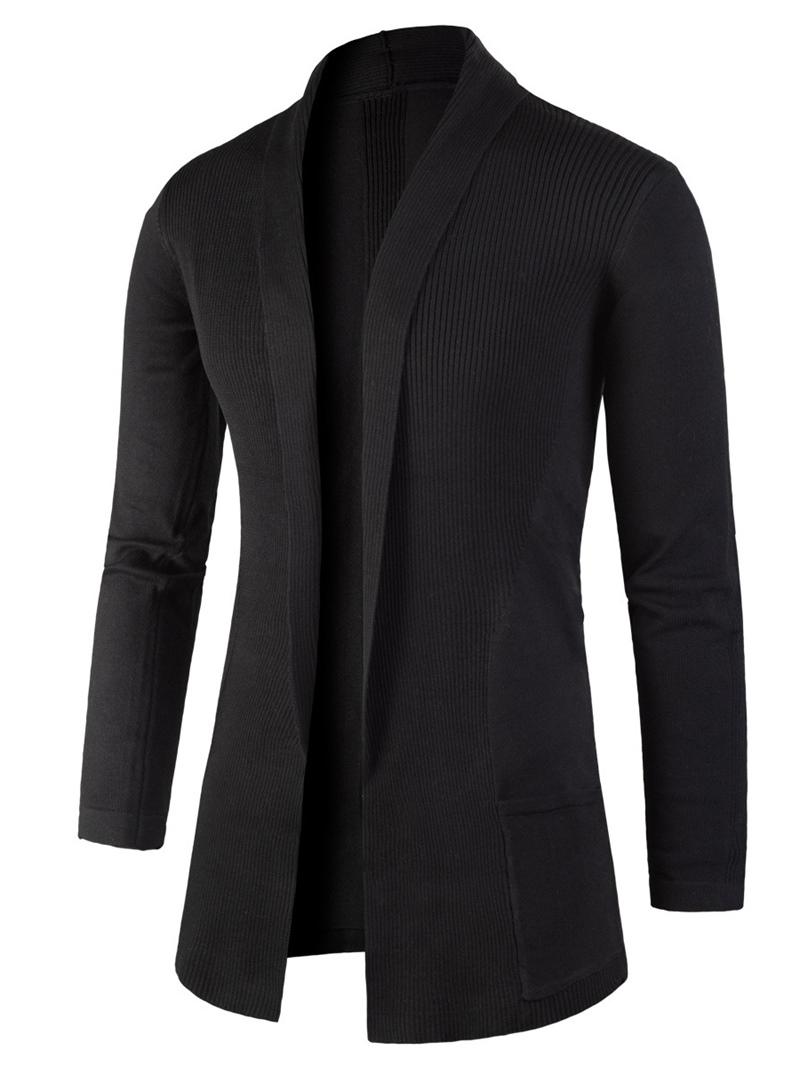 Ericdress Lapel Slim Mid-Length Men's Cardigan Sweater