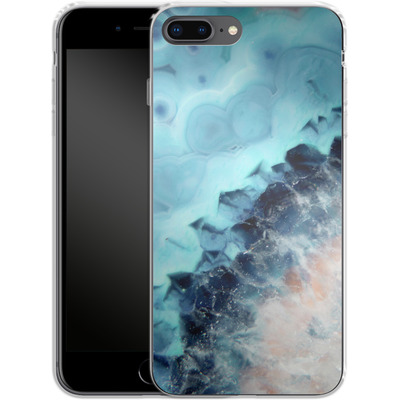 Apple iPhone 8 Plus Silikon Handyhuelle - Ocean Agate von Emanuela Carratoni