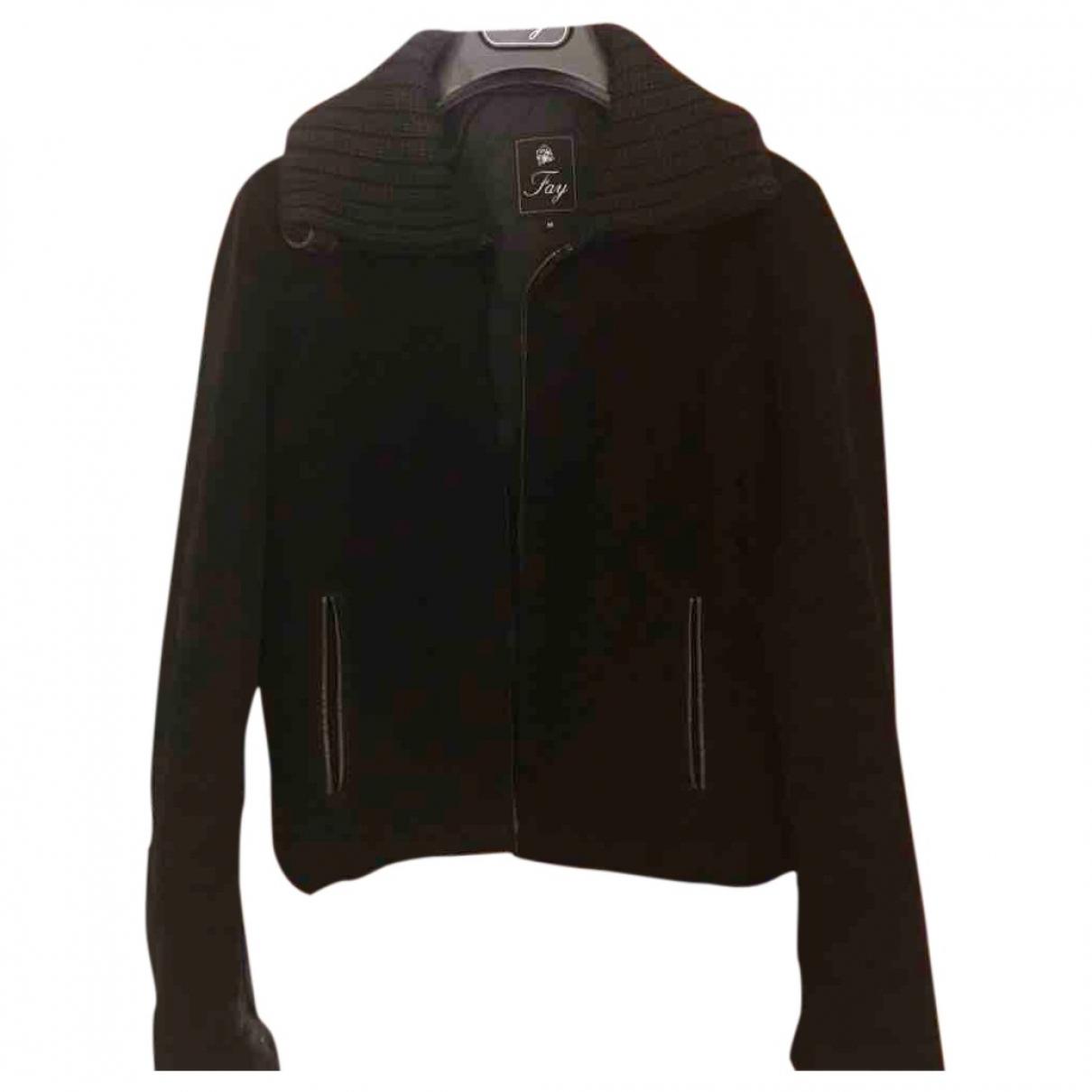 Fay - Veste   pour femme en laine - noir