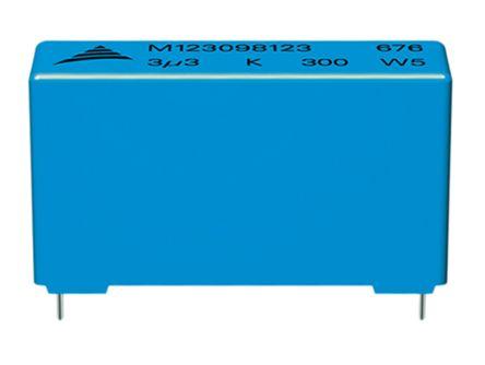 EPCOS 10μF Polypropylene Capacitor PP 750 V dc, 900 V dc ±10% Tolerance B32676 Series