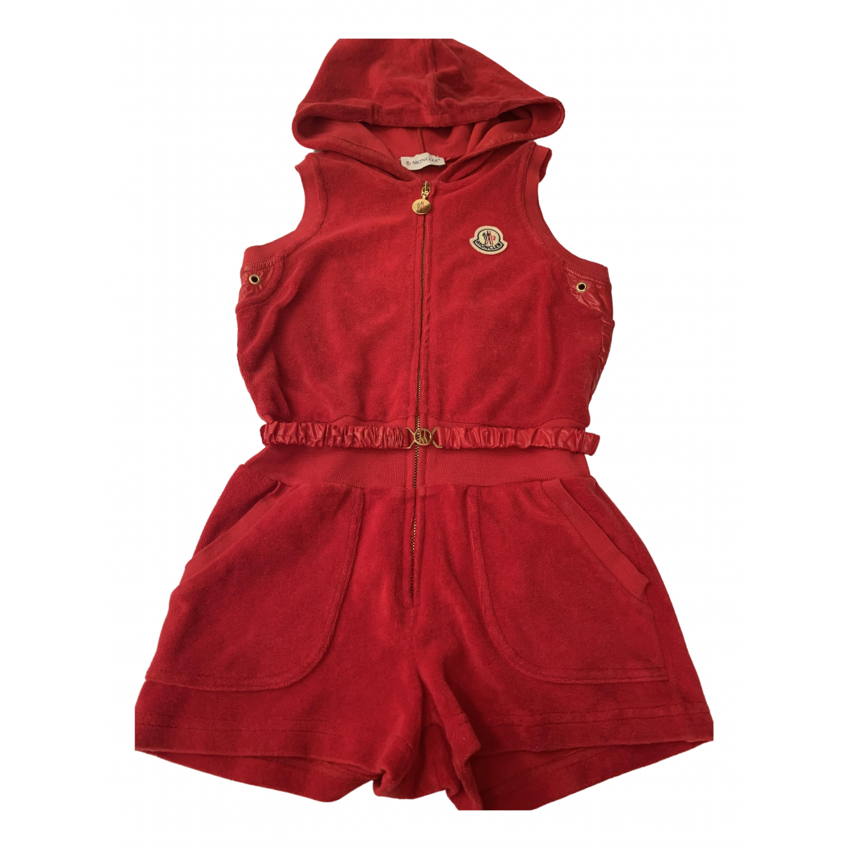 Moncler \N Red Cotton dress for Kids 5 years - up to 108cm FR