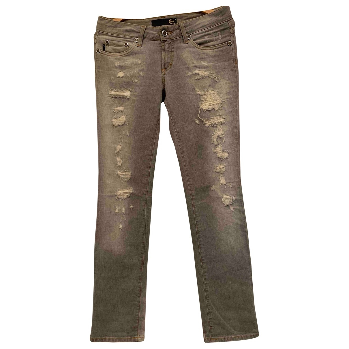 Just Cavalli \N Grey Cotton - elasthane Jeans for Women 27 US