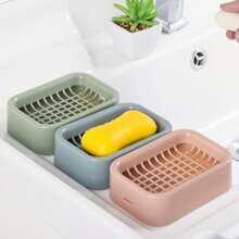 1pc Double Layer Drain Soap Dish