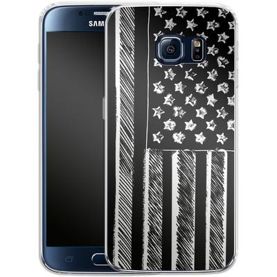 Samsung Galaxy S6 Silikon Handyhuelle - Black and White von caseable Designs