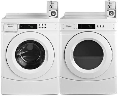 Front Load Energy Star CHW9150GW 27 Washer with CGD9150GW 27 Gas Dryer Commercial Laundry Pair in
